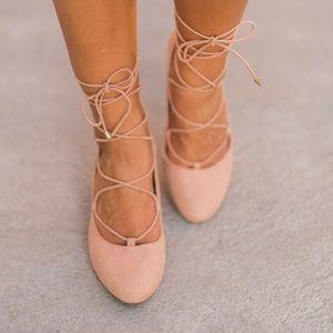 Athena Alexander Lace up  short block heel